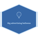 Big advertising balloons